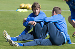 St Johnstone Training….26.08.16<br />Murray Davidson pictured during training this morning at McDiarmid Park ahead of tomorrow's trip to Inverness with Steven MacLean<br />Picture by Graeme Hart.<br />Copyright Perthshire Picture Agency<br />Tel: 01738 623350  Mobile: 07990 594431