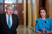 Nancy Pelosi meets with UK Prime Minister Boris Johnson at the US Capitol