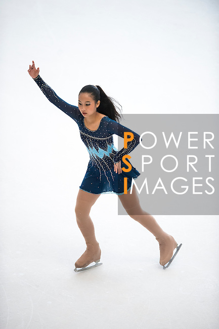 Christabel Karunia Notowidjojo during the Asian Junior Figure Skating Challenge 2015 on October 07, 2015 at the Festival Walk Mall in Hong Kong, China. Photo by Aitor Alcalde/ Power Sport Images