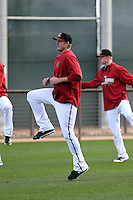 Addison Reed of the Arizona Diamondbacks participates in the first day of spring training workouts at Salt River Fields on February 7, 2014 in Scottsdale, Arizona (Bill Mitchell)