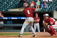 Gian Martellini (2) of the Boston College Eagles at bat against the North Carolina State Wolfpack in Game Two of the 2017 ACC Baseball Championship at Louisville Slugger Field on May 23, 2017 in Louisville, Kentucky. The Wolfpack defeated the Eagles 6-1. (Brian Westerholt/Four Seam Images)
