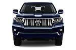 Car photography straight front view of a 2018 Toyota Land-Cruiser-150 Premium 5 Door SUV Front View