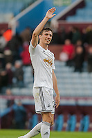 BIRMINGHAM, ENGLAND - MARCH 21:Jack Cork of Swansea City   applauds fans  during the Barclays Premier League match between Aston Villa and Swansea City at Villa Park on March 21, 2015 in Birmingham, England. (Photo by Athena Pictures/Getty Images)