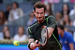 Andy Murray from UK during his Madrid tennis Open  men's final match against Rafa Nadal from Spain in Madrid, Spain. May 10, 2015. (ALTERPHOTOS/Victor Blanco)