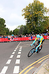 Daniil Fominykh (KAZ) in action during the Men Elite Individual Time Trial of the UCI World Championships 2019 running 54km from Northallerton to Harrogate, England. 25th September 2019.<br /> Picture: Andy Brady | Cyclefile<br /> <br /> All photos usage must carry mandatory copyright credit (© Cyclefile | Andy Brady)