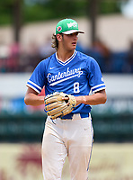 Canterbury Cougars pitcher Anthony Ursitti (8) during the 42nd Annual FACA All-Star Baseball Classic on June 5, 2021 at Joker Marchant Stadium in Lakeland, Florida.  (Mike Janes/Four Seam Images)