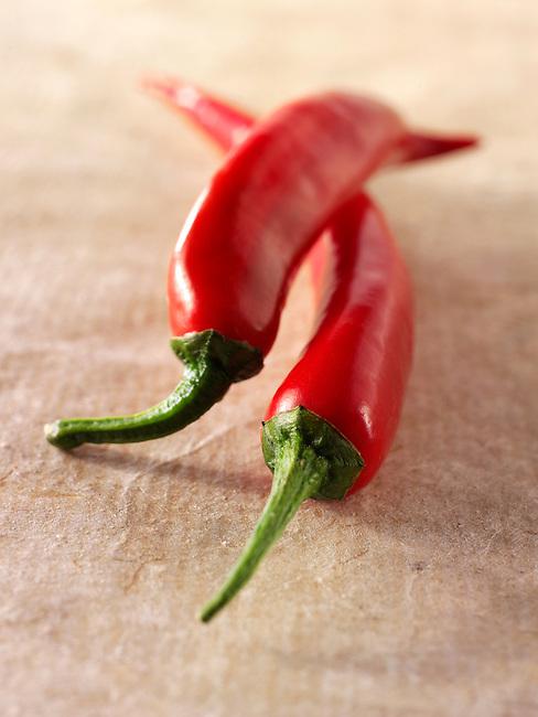 Fresh red chillis