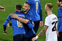 Federico Bernardeschi of Italy celebrates with Danilo D'Ambrosio after scoring the goal of 2-0 during the friendly football match between Italy and Estonia at Artemio Franchi Stadium in Firenze (Italy), November, 11th 2020. Photo Andrea Staccioli/ Insidefoto
