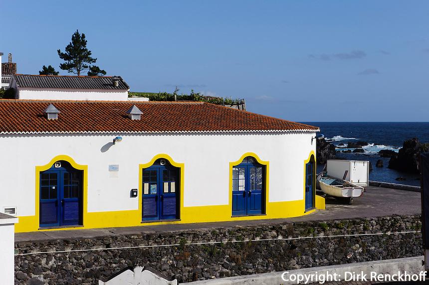Haus in Santa Cruz auf der Insel Flores, Azoren, Portugal