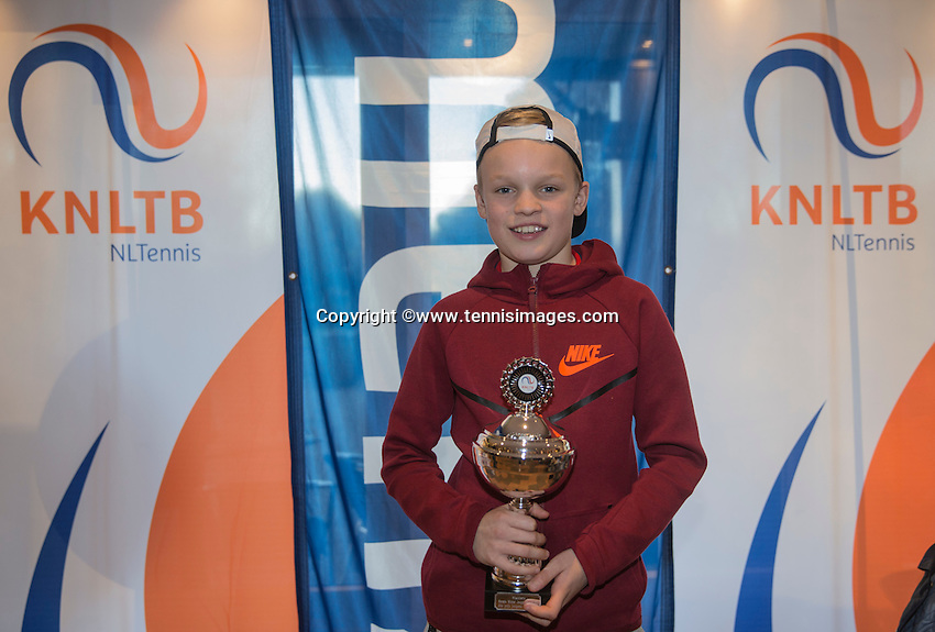 Hilversum, Netherlands, December 4, 2016, Winter Youth Circuit Masters, 2 nd th place boys 12 years Abel Forger   <br /> Photo: Tennisimages/Henk Koster