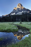 Pond below Liberty Bell Mountain, Washington Pass, Hwy 20, Wenatchee National Forest, North Cascades, Washington<br />