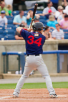 Bryce Harper #34 of the Hagerstown Suns at bat against the Rome Braves at State Mutual Stadium on May 1, 2011 in Rome, Georgia.   Photo by Brian Westerholt / Four Seam Images