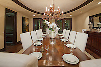 Stock photo residential dining room