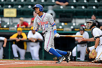 St. Lucie Mets outfielder Gilbert Gomez #17 during a game against the Bradenton Marauders on April 12, 2013 at McKechnie Field in Bradenton, Florida.  St. Lucie defeated Bradenton 6-5 in 12 innings.  (Mike Janes/Four Seam Images)