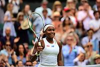 1st July 2021; Wimbledon, SW London. England; Wimbledon Tennis Championships, day 4;  Coco Gauff , USA