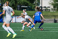 Boston, MA - Saturday June 24, 2017: McCall Zerboni and Morgan Andrews during a regular season National Women's Soccer League (NWSL) match between the Boston Breakers and the North Carolina Courage at Jordan Field.