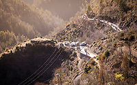 up the final climb: the Col de Turini<br /> <br /> Stage 7: Nice to Col de Turini (181km)<br /> 77th Paris - Nice 2019 (2.UWT)<br /> <br /> ©kramon