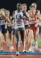 Edward Cheserek of Oregon crosses the finish line in 10000 meter semifinal during West Preliminary Track and Field Championships, Friday, May 29, 2015 in Austin, Tex. (Mo Khursheed/TFV Media via AP Images)