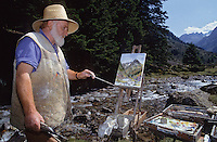 Europe/France/Midi-Pyrénées/65/Hautes-Pyrénées/Vallée d'Azun: Monsieur Briot - peintre