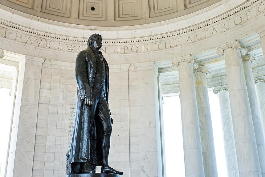 Interior, Jefferson Memorial, Washington DC, USA