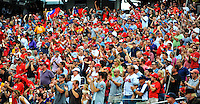 24 September 2011: Washington Nationals fans cheer the team and pitcher Chien-Ming Wang during a game against the Atlanta Braves at Nationals Park in Washington, DC. The Nationals defeated the Braves 4-1 to even up their 3-game series. Mandatory Credit: Ed Wolfstein Photo