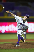 Winston-Salem Dash relief pitcher Danny Dopico (22) delivers a pitch to the plate against the Myrtle Beach Pelicans at BB&T Ballpark on August 6, 2018 in Winston-Salem, North Carolina. The Dash defeated the Pelicans 6-3. (Brian Westerholt/Four Seam Images)