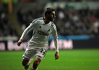 Pictured: Angel Rangel of Swansea. Tuesday, 31 January 2012<br /> Re: Premier League football Swansea City FC v Chelsea FCl at the Liberty Stadium, south Wales.