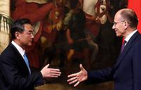 20131029 ROMA-ESTERI: LETTA INCONTRA IL MINISTRO DEGLI ESTERI CINESE WANG YI