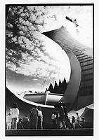 Le Stade Olympique inacheve vers 1976<br /> (date exacte inconnue)<br /> <br /> PHOTO : Alain Renaud - Agence Quebec Presse<br /> <br /> Les images commandees seront recadrees lorsque requis