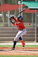GCL Astros Jose Alvarez (6) at bat during a Gulf Coast League game against the GCL Cardinals on August 11, 2019 at Roger Dean Stadium Complex in Jupiter, Florida.  GCL Cardinals defeated the GCL Astros 2-1.  (Mike Janes/Four Seam Images)