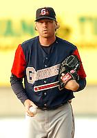 Gwinnett Braves RHP Tommy Hanson at McCoy Stadium in Pawtucket, RI  (Photo by Ken Babbitt/Four Seam Images)