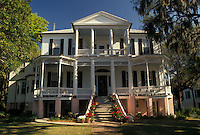 mansion, Beaufort, South Carolina, antebellum, SC, Historic House in the Historic District in the town of Beaufort in the spring.