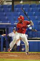 GCL Phillies first baseman Edwin Rodriguez (30) at bat during the second game of a doubleheader against the GCL Blue Jays on August 15, 2016 at Florida Auto Exchange Stadium in Dunedin, Florida.  GCL Phillies defeated the GCL Blue Jays 4-0.  (Mike Janes/Four Seam Images)