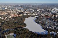 Aussenmuehlenteich: EUROPA, DEUTSCHLAND, HAMBURG, (EUROPE, GERMANY), 02.01.2009: Hamburg Harburg, Aussenmuehlenteich, Eis, Schnee, Winter, Naherholung, Luftbild, Luftansicht, Luftaufnahme, Aufwind-Luftbilder.c o p y r i g h t : A U F W I N D - L U F T B I L D E R . de.G e r t r u d - B a e u m e r - S t i e g 1 0 2, .2 1 0 3 5 H a m b u r g , G e r m a n y.P h o n e + 4 9 (0) 1 7 1 - 6 8 6 6 0 6 9 .E m a i l H w e i 1 @ a o l . c o m.w w w . a u f w i n d - l u f t b i l d e r . d e.K o n t o : P o s t b a n k H a m b u r g .B l z : 2 0 0 1 0 0 2 0 .K o n t o : 5 8 3 6 5 7 2 0 9.V e r o e f f e n t l i c h u n g  n u r  m i t  H o n o r a r  n a c h M F M, N a m e n s n e n n u n g  (aufwind-luftbilder.de) u n d B e l e g e x e m p l a r !.