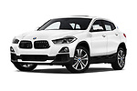 Stock pictures of low aggressive front three quarter view of a 2018 BMW X2 Base 5 Door SUV