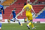 St Johnstone v Hibs …06.03.21   McDiarmid Park   SPFL<br />Liam Craig scores for saints<br />Picture by Graeme Hart.<br />Copyright Perthshire Picture Agency<br />Tel: 01738 623350  Mobile: 07990 594431