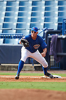 Alex Kirilloff (11) of Plum High School in New Kensington, Pennsylvania playing for the Chicago Cubs scout team during the East Coast Pro Showcase on July 30, 2015 at George M. Steinbrenner Field in Tampa, Florida.  (Mike Janes/Four Seam Images)