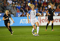 Commerce City, CO - Friday September 15, 2017: Samantha Mewis during an International friendly match between the women's National teams of the United States (USA) and New Zealand (NZL) at Dick's Sporting Goods Park.