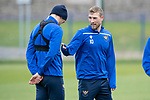 St Johnstone Training…25.10.19<br />David Wotherspoon pictured with Murray Davidson during training this morning at McDiarmid Park ahead of tomorrows game against Hamilton Accies.<br />Picture by Graeme Hart.<br />Copyright Perthshire Picture Agency<br />Tel: 01738 623350  Mobile: 07990 594431