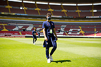 GUADALAJARA, MEXICO - MARCH 18: Johnny Cardoso #16 of the United States check out the field prior to the start of the game before a game between Costa Rica and USMNT U-23 at Estadio Jalisco on March 18, 2021 in Guadalajara, Mexico.