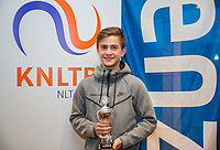 Hilversum, Netherlands, December 3, 2017, Winter Youth Circuit Masters, 12,14,and 16 years,  4 th place boys 14 years Steffan van Weldam<br /> Photo: Tennisimages/Henk Koster