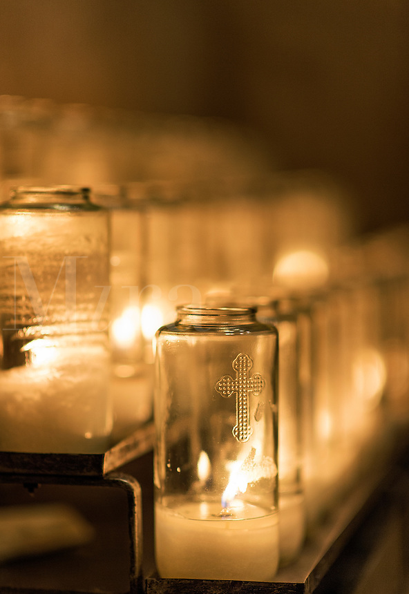 Shrine votive candles.