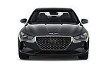Car photography straight front view of a 2019 Genesis G70  Prestige 4 Door Sedan