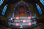 © Joel Goodman - 07973 332324 . 24/06/2016 . Manchester , UK . Returning officer JENNY WATSON announces the national result at the declaration in the EU referendum at Manchester Town Hall . Photo credit : Joel Goodman