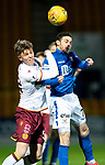 St Johnstone v Motherwell…..12.02.20   McDiarmid Park   SPFL<br />Drey Wright and Mark O'Hara<br />Picture by Graeme Hart.<br />Copyright Perthshire Picture Agency<br />Tel: 01738 623350  Mobile: 07990 594431