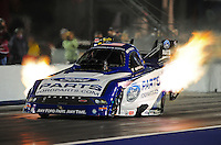 Sept. 16, 2011; Concord, NC, USA: NHRA funny car driver Bob Tasca III during qualifying for the O'Reilly Auto Parts Nationals at zMax Dragway. Mandatory Credit: Mark J. Rebilas-US PRESSWIRE