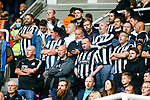Newcastle fans wait for the final whistle. Newcastle v West Ham, August 15th 2021. The first game of the season, and the first time fans were allowed into St James Park since the Coronavirus pandemic. 50,673 people watched West Ham come from behind twice to secure a 2-4 win.
