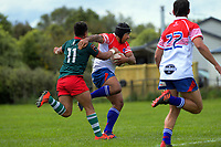 Action from the Heartland Championship and PGG Wrightson Cup rugby match between Wairarapa Bush and Horowhenua Kapiti at Carterton RFC in Carterton, New Zealand on Saturday, 10 October 2020. Photo: Dave Lintott / lintottphoto.co.nz