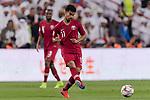 Akram Hassan Afif of Qatar in action during the AFC Asian Cup UAE 2019 Semi Finals match between Qatar (QAT) and United Arab Emirates (UAE) at Mohammed Bin Zaied Stadium  on 29 January 2019 in Abu Dhabi, United Arab Emirates. Photo by Marcio Rodrigo Machado / Power Sport Images