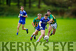 Annascaul's Cathal Ferriter tackled by Lispoles Cathal O'Se in the West Kerry Senior Championship.